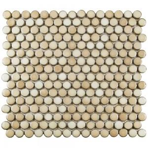 Đá Mosaic Merola Tile Metro Hex Glossy White